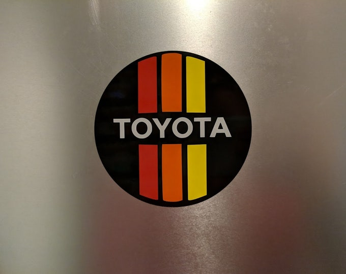 Toyota Red/Orange/Yellow logo Vinyl decal sticker