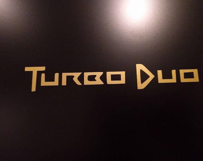 Turbo Duo Logo Vinyl Decal Sticker