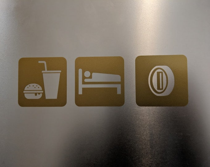 Eat sleep make coin vinyl decal sticker
