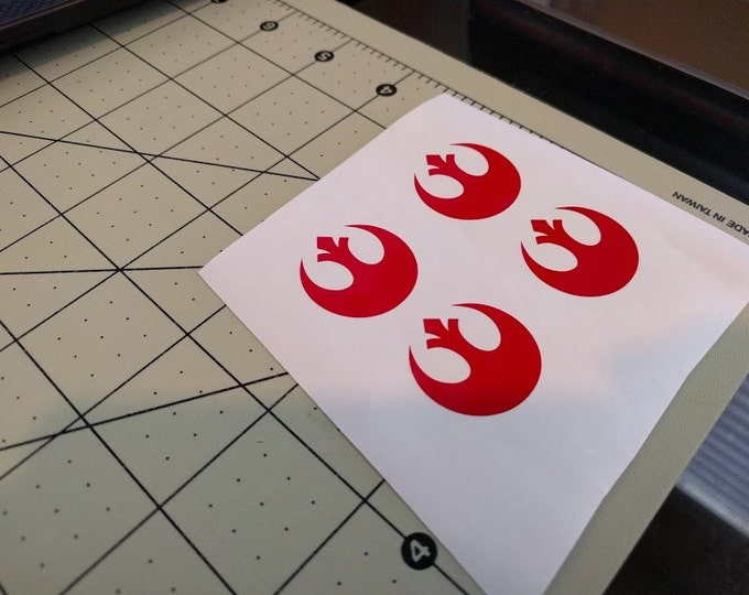 Star Wars Gloss Red Rebel Vinyl Decal Sticker