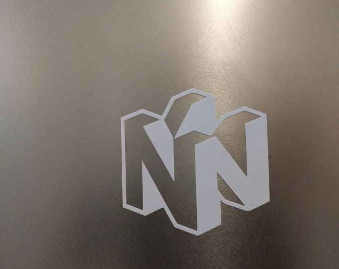 Nintendo N64 logo decal sticker