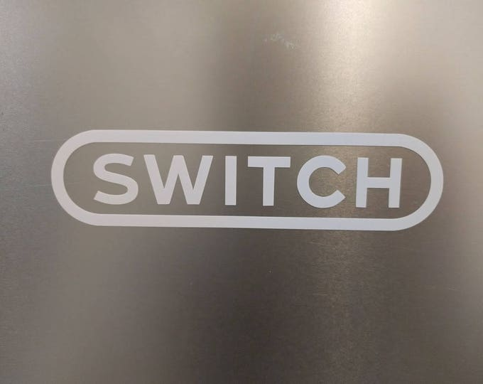 Nintendo NES SWITCH Logo vinyl decal sticker