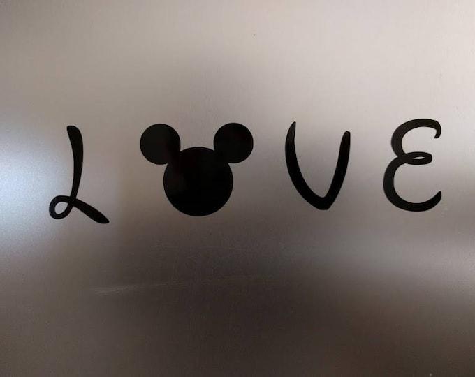 2 pack - Disney Mickey Ear Love Decal Sticker