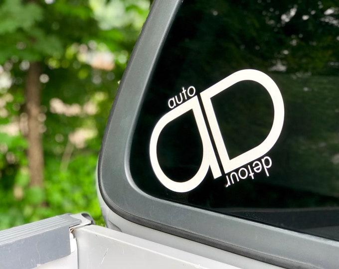 Auto Detour Vinyl Decal Sticker