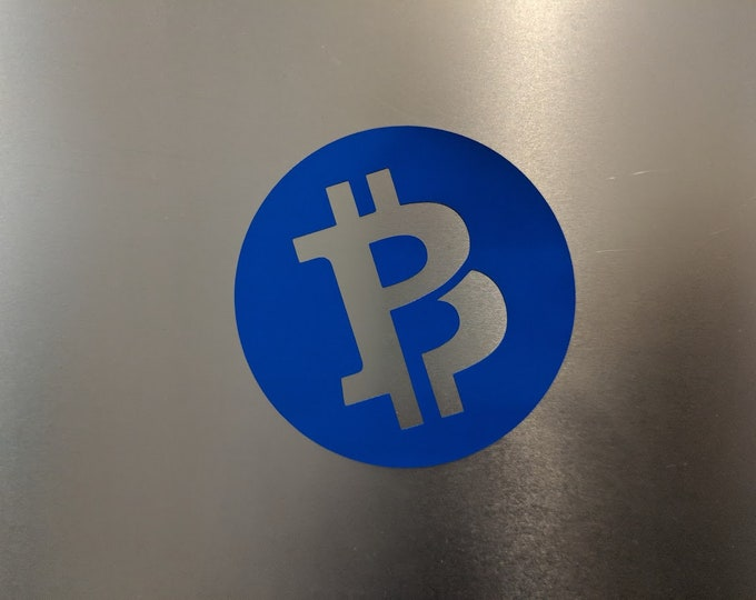 Bitcoin private round vinyl decal sticker