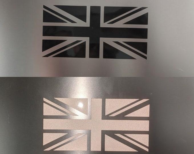 UK Reflective flag vinyl decal sticker