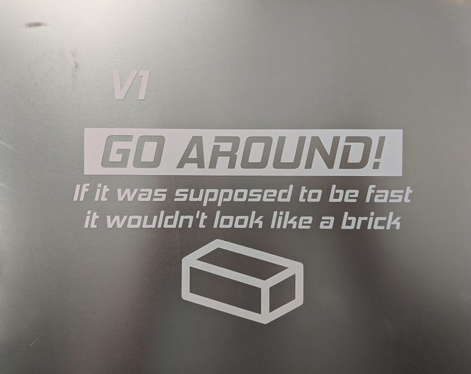 Go Around V1 funny car decal