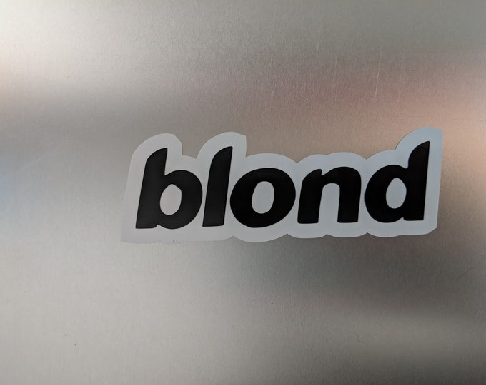 blond two tone vinyl decal sticker