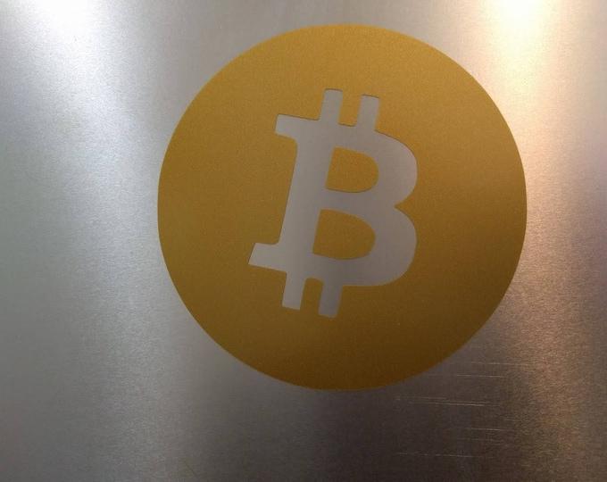 Bitcoin Round Logo Decal Sticker