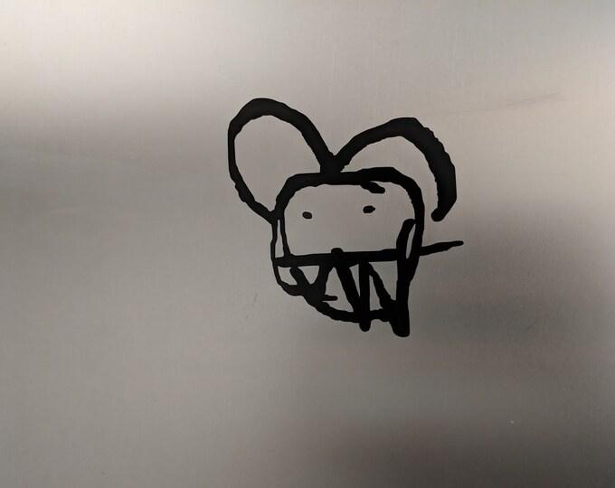 Hand drawn Radiohead vinyl decal sticker logo