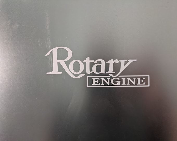 Rotary Engine vinyl decal sticker