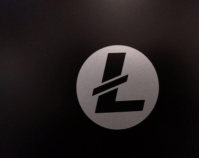 Round Litecoin LTC Vinyl Decal Sticker