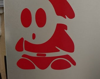 Super Mario Bros Shy Guy V1 vinyl decal sticker