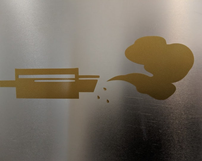 Smokey / Oil blowing out of exhaust vinyl decal sticker