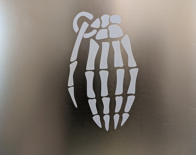 Skeleton Grenade vinyl decal sticker