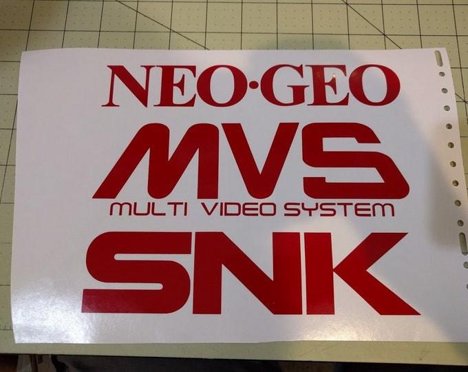 Arcade style Vinyl Decals NeoGeo MVS SNK Multi pack * Read description *