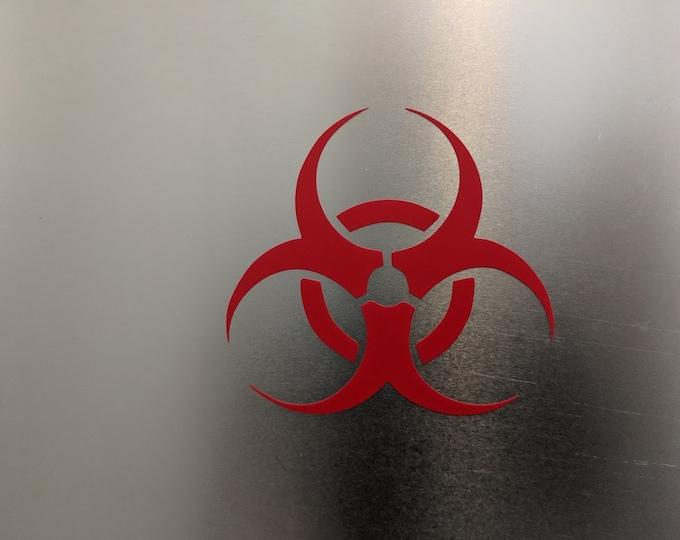 Quarantine Bio Hazard Vinyl Decal sticker