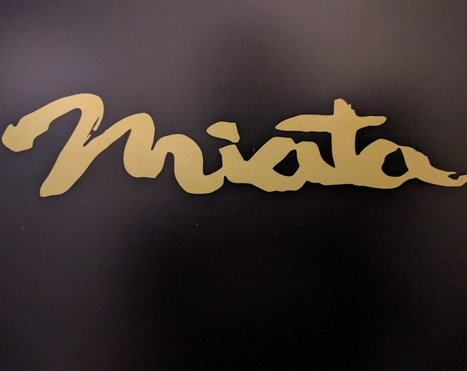 Miata text vinyl decal sticker