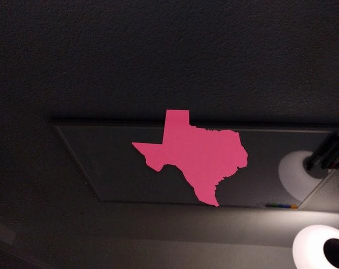 Texas Shape vinyl decal sticker