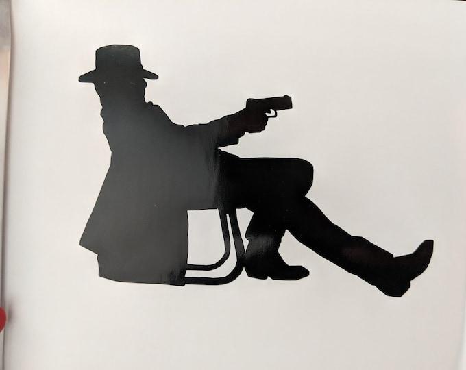 Justified TV Show: Deputy US Marshal Cowboy with gun vinyl decal sticker