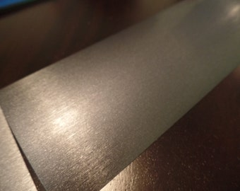 """3M 1080 Series Brushed Steel Vinyl Wrap Sample Piece 4""""x 8"""" inches"""