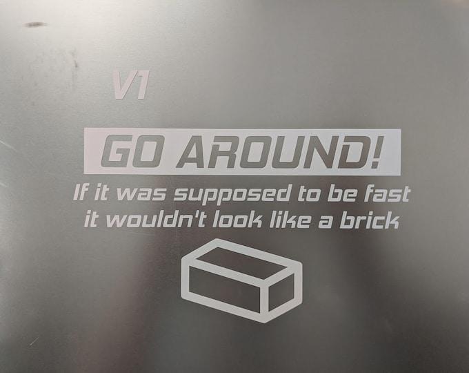 Go Around V1 funny car decal