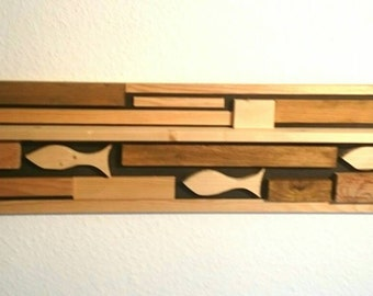 Wall decor made of wood