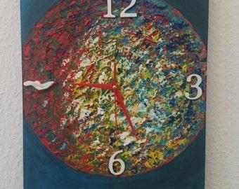 Wall clock self-made