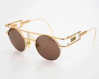 e728d681f0 vintage 1980s Cazal 958 col 332 original sunglasses gold white
