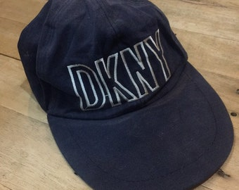 26bde55139f00 Vtg 90s DKNY long bill hat