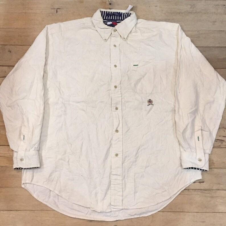 3903e3bf Vtg 90s Tommy Hilfiger Corduroy button shirt | Etsy