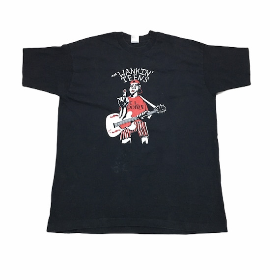 Vintage 90s The Wankin' Teens punk rock Tee