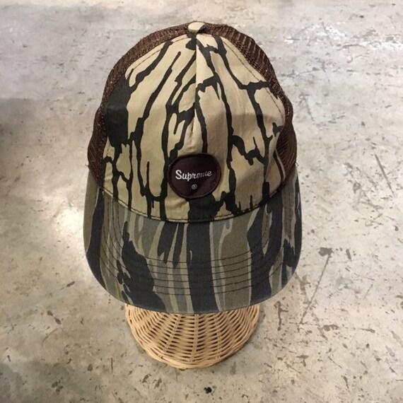 Supreme camo trucker hat