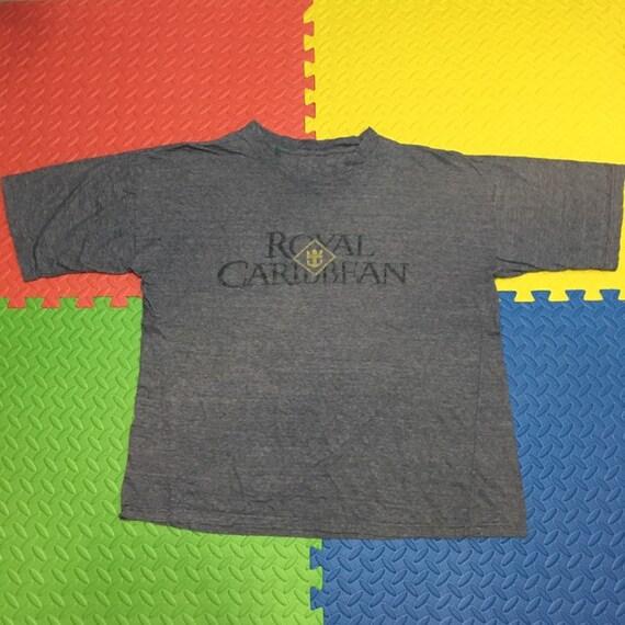 Vintage 90s Royal Caribbean mini striped t shirt