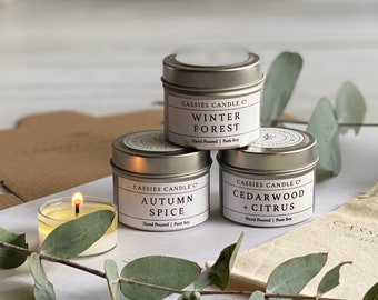All Natural Sustainable 3oz Clamshell Hand-poured Artisan Wax Green Tea /& Lemongrass Soy Wax Paraffin-free Soy Wax