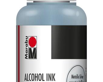 Metallic Silver || MARABU ALCOHOL INKS