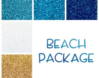 Beach Themed Glitter Package