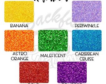 Glitter Rainbow Sample Pack 7 - 1/2oz Jars