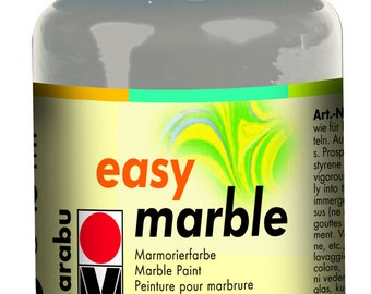 Silver Marble Paint || MARABU Easy MARBLE PAINT