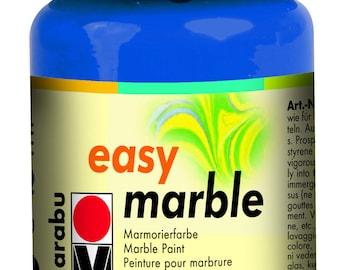 Azure Blue || MARABU Easy MARBLE PAINT