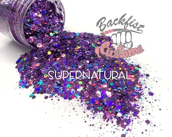 SUPERNATURAL   || Solvent Resistant, Chunky Mix Holographic Glitter