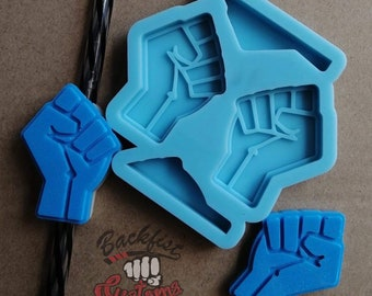 Halves ||  FIST Straw Topper 1.5 in x 2in || Silicone mold