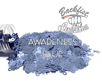 AWARENESS BLUE    BFC Exclusive Ribbon Shaped Glitter