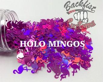 HOLO MINGOS || Holographic Flamingo Shaped Glitter