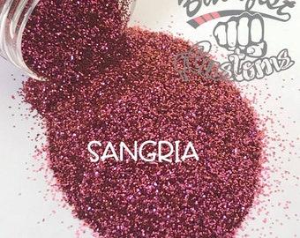 SANGRIA ( maroon/orange )  || Solvent Resistant, Chameleon Glitter