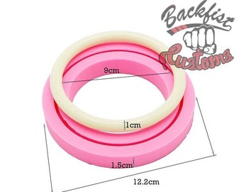 3.5 inch BRACELET for Keychain SMALL/MEDIUM size mold    1 Silicone mold