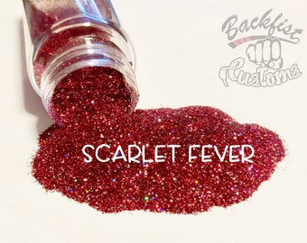 SCARLET FEVER || Opaque Chunky Glitter, Solvent Resistant