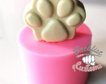 PAW PRINT STRAW Topper  Silicone mold