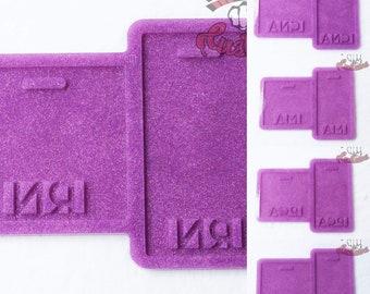 CUSTOM 5 Pack Medical Badges Lpn, Pca, MA, Cna, RN 3in x 3in, 2.25in x 4.25in each