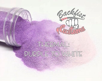 THERMAL PURPLE to WHITE || Heat Activated Glitter changes from Purple to Colorless